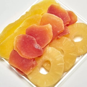 Dehydrated tropical fruits